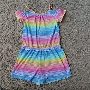 Girls' Striped Romper